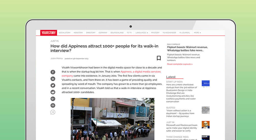 Appiness walk-in interview